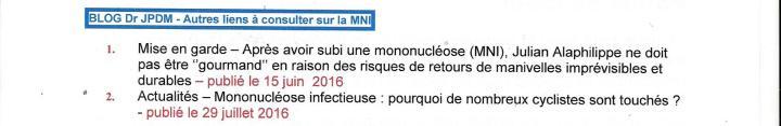Cyclisme – Mononucléose infectieuse (MNI) : des récidives qui ...